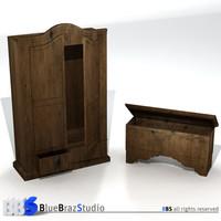 closet chest 3d model
