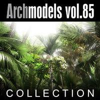 archmodels 85 trees 3d c4d