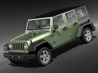 3d model jeep wrangler unlimited