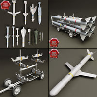 Bomb Cart and Missiles Collection V3