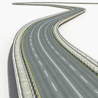 3d road set modelled