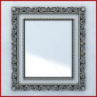 3d mirror vismara design barouqe model