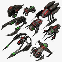 3d 8 alien ships