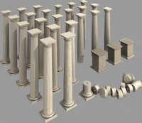 Doric Column Set