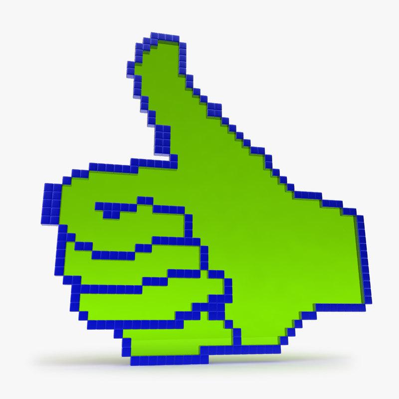 3d thumbs pixels