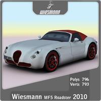 3d c4d 2010 wiesmann roadster mf5
