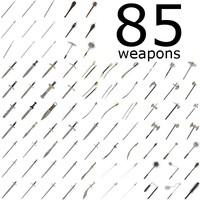85 weapons fbx