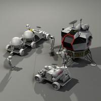 Med Poly Moon Exploration Set