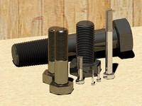 3d screws bolts din 931