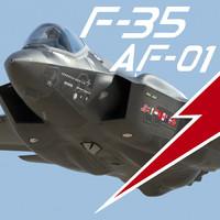 f-35 af-1 1 pilot 3d max