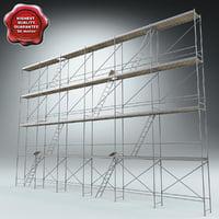 3d scaffold modelled model