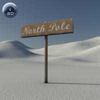 max north pole sign