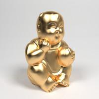 maya golden statuette child