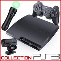 3d model sony playstation 3 ps3