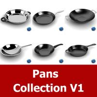 pan cookware 3d model