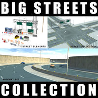 3ds max street highway objects