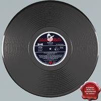 vinyl modelled 3ds