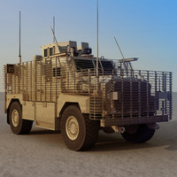 3d model of uk ridgeback resistant vehicle
