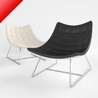 btk day lounger 3d model