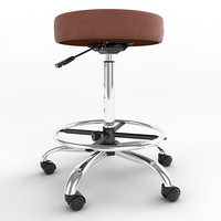 Adjustable Height Stool with Footring 03