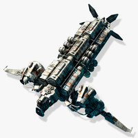 3d model scifi ship