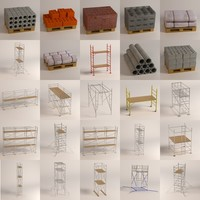 maya construction materials scaffoldings