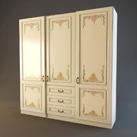 3d wardrobe cabinet