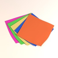 3d note papers model