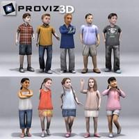3D People: Children Vol. 04