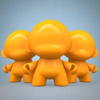 vinyl toy munny 3d model