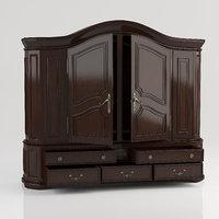 antique wardrobe 3d model