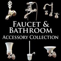 3d lavatory faucet collections model