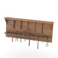 3d shelf smithy equipment model