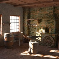 3d old smithy model