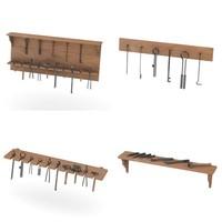 shelfs smithy equipment 3d 3ds