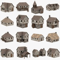 medieval houses 3d max