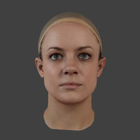 3d accurate scan girls head model