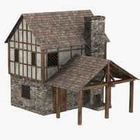 medieval blacksmith 3d c4d