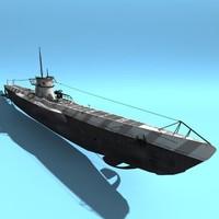 3d type viic u-boat