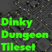 Dinky Dungeon Tileset (OBJ/FBX)