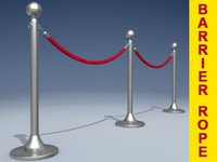 3ds max barrier rope