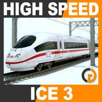 High Speed Train - ICE 3 Siemens Velaro with Interior
