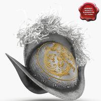 swiss medieval helmet v2 3d c4d