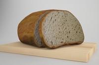3d bread model