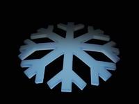 snow flake 3d model