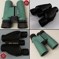 3d model binoculars nikon travelite