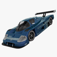 mercedes sauber c9 blue 3d model