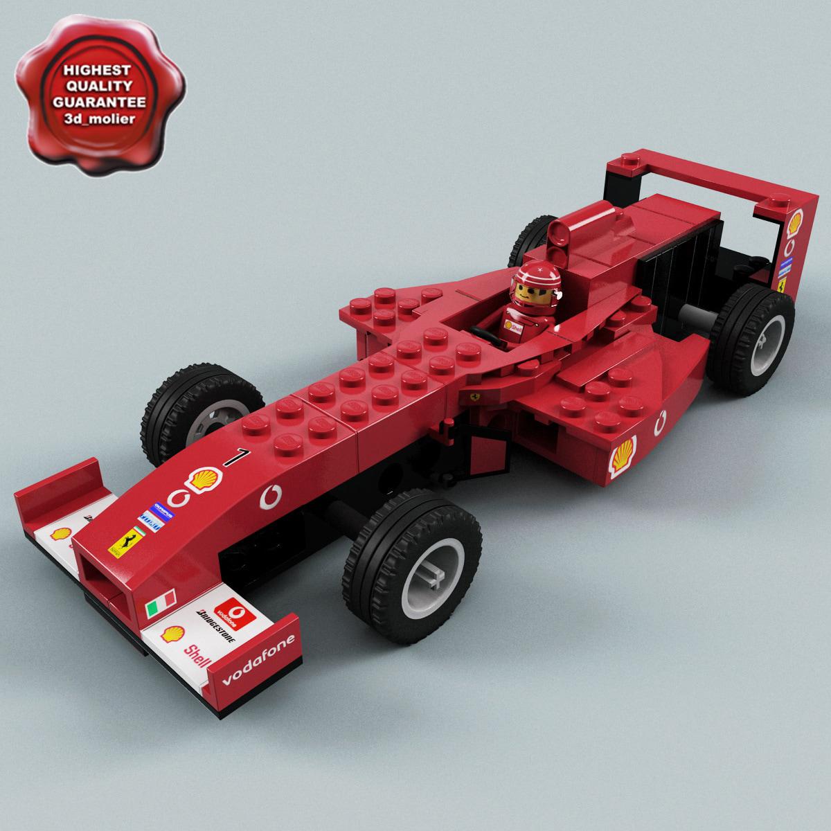 3d model lego racing car