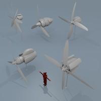 3d propeller motors model