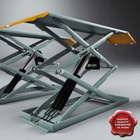 small platform scissor lifts 3d model